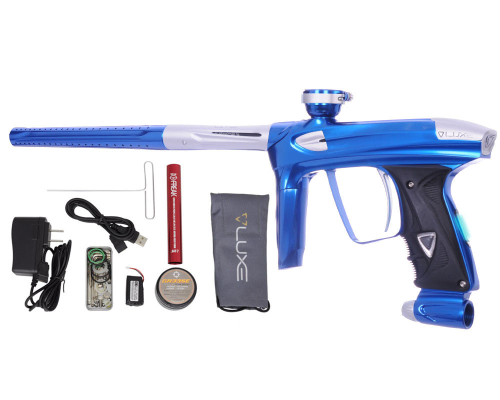 DLX Luxe 2.0 OLED Paintball Gun - Blue/Dust White