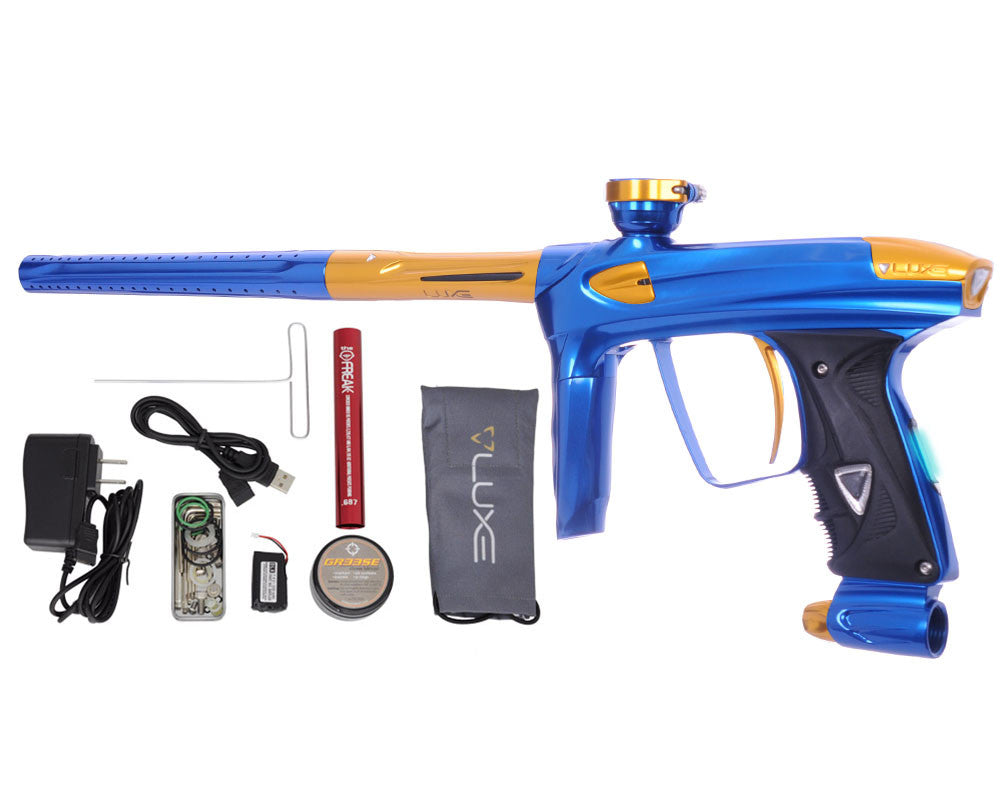 DLX Luxe 2.0 OLED Paintball Gun - Blue/Gold