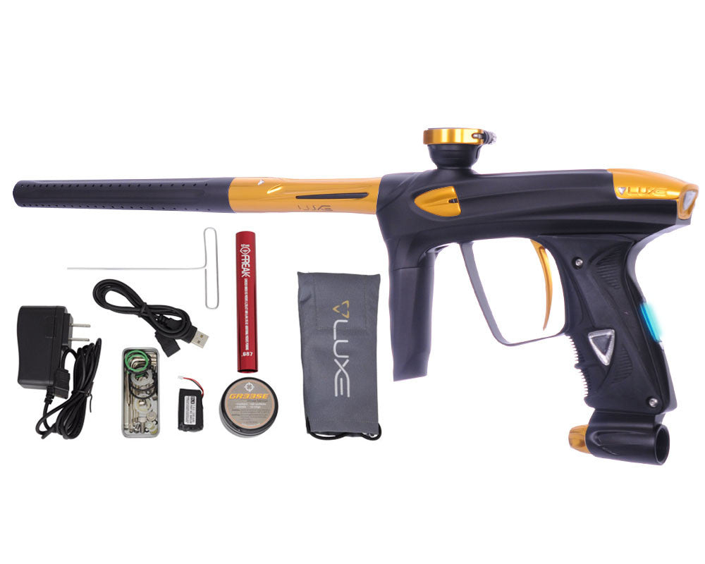 DLX Luxe 2.0 OLED Paintball Gun - Dust Black/Gold