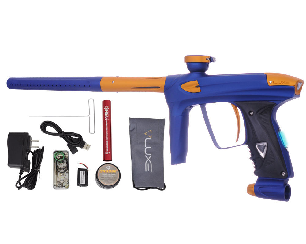 DLX Luxe 2.0 OLED Paintball Gun - Dust Blue/Dust Gold