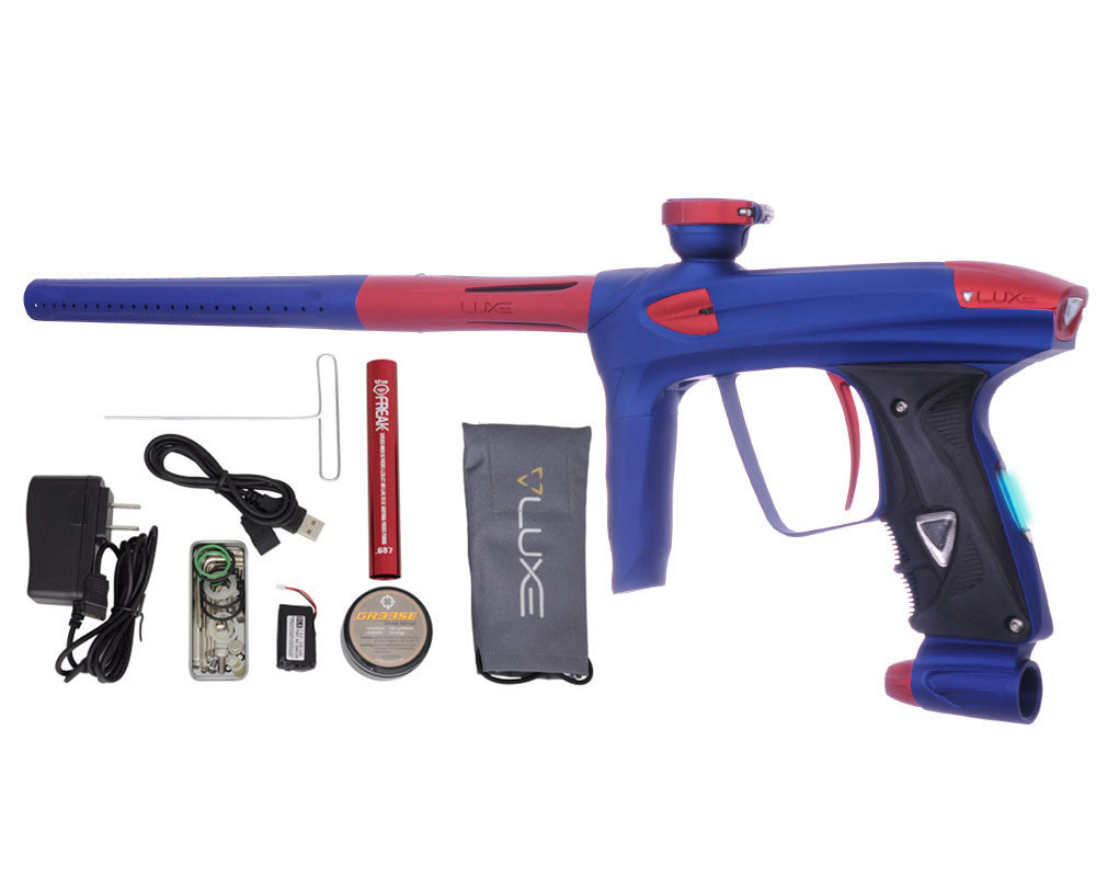 DLX Luxe 2.0 OLED Paintball Gun - Dust Blue/Dust Red
