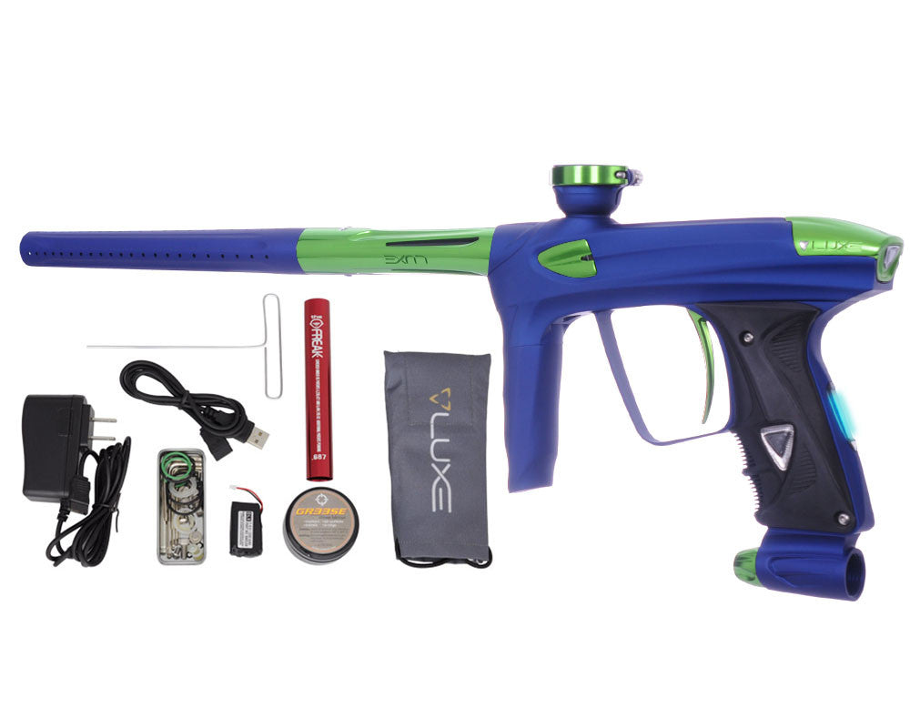 DLX Luxe 2.0 OLED Paintball Gun - Dust Blue/Slime Green