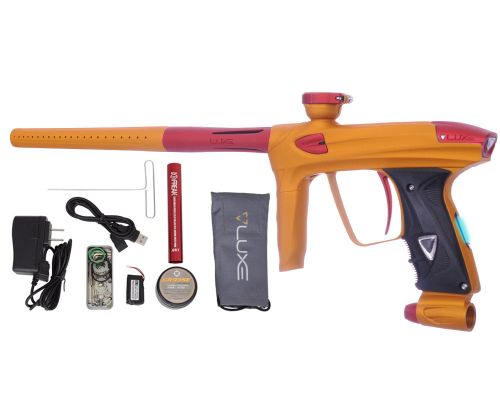 DLX Luxe 2.0 OLED Paintball Gun - Dust Gold/Dust Red