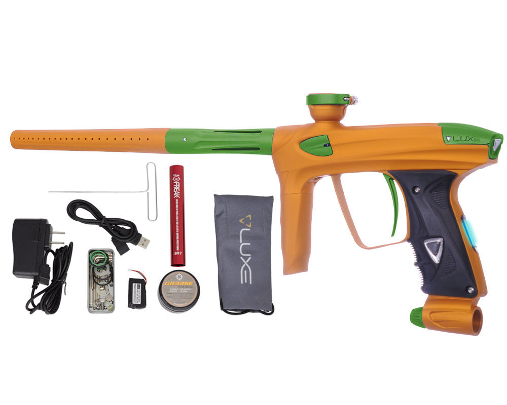 DLX Luxe 2.0 OLED Paintball Gun - Dust Gold/Dust Slime Green