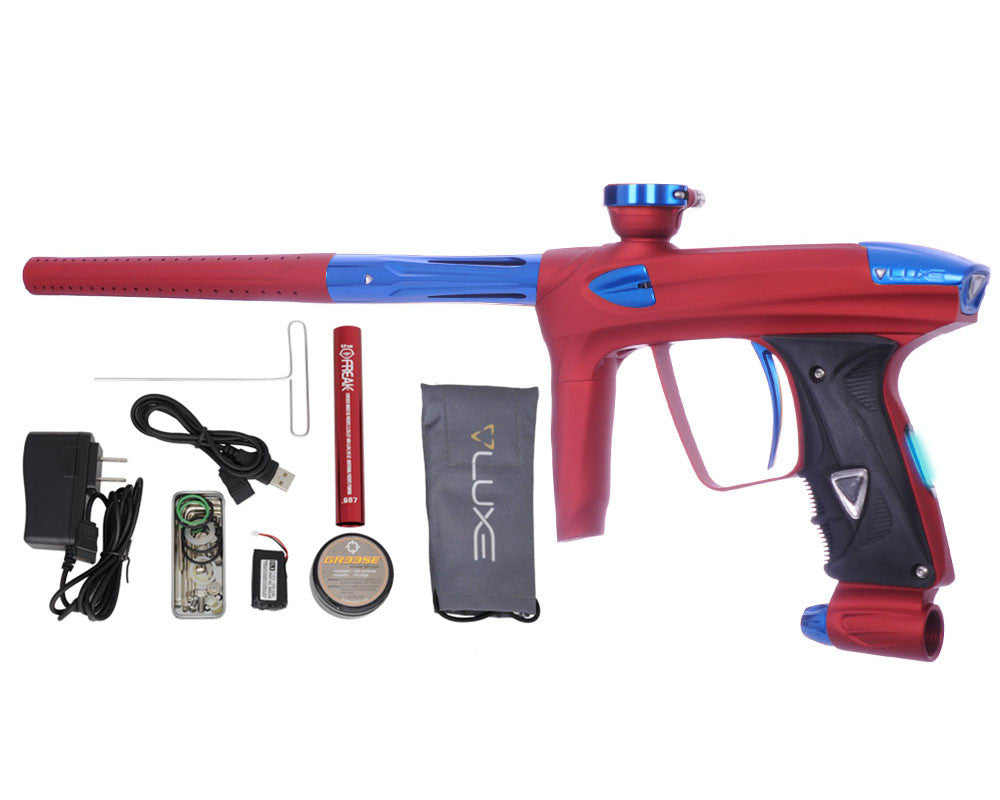 DLX Luxe 2.0 OLED Paintball Gun - Dust Red/Blue