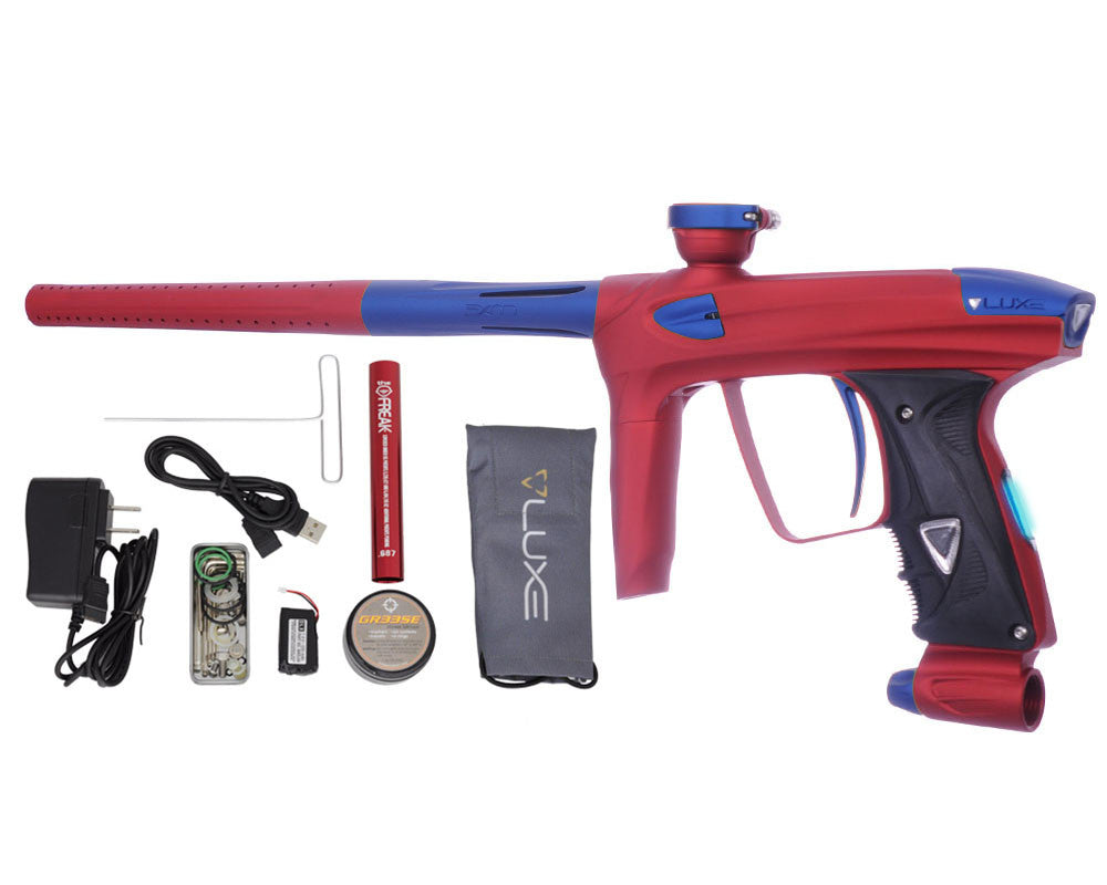 DLX Luxe 2.0 OLED Paintball Gun - Dust Red/Dust Blue