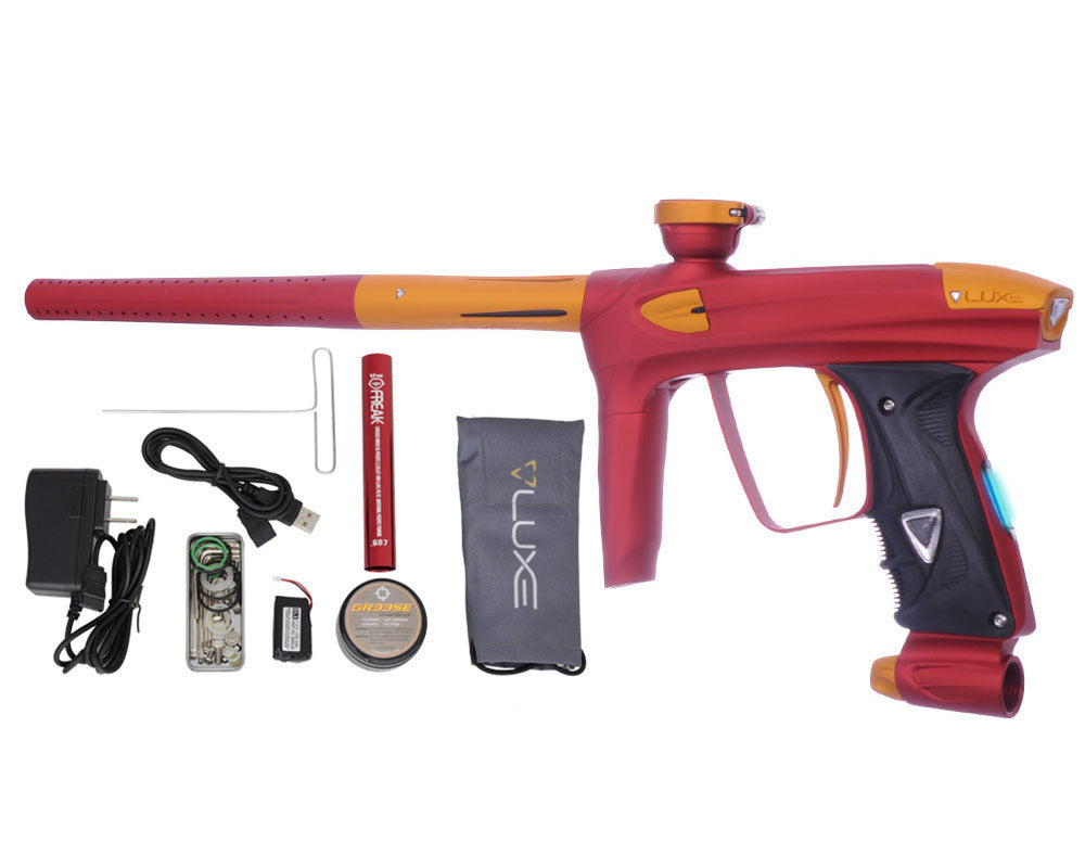 DLX Luxe 2.0 OLED Paintball Gun - Dust Red/Dust Gold