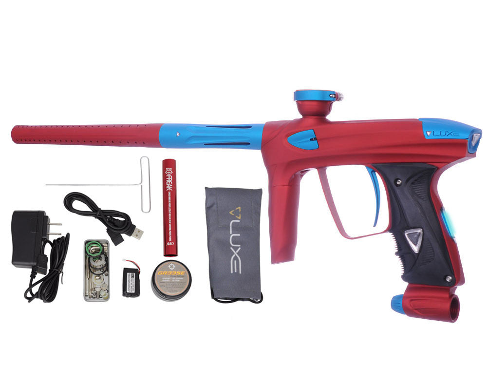 DLX Luxe 2.0 OLED Paintball Gun - Dust Red/Dust Teal