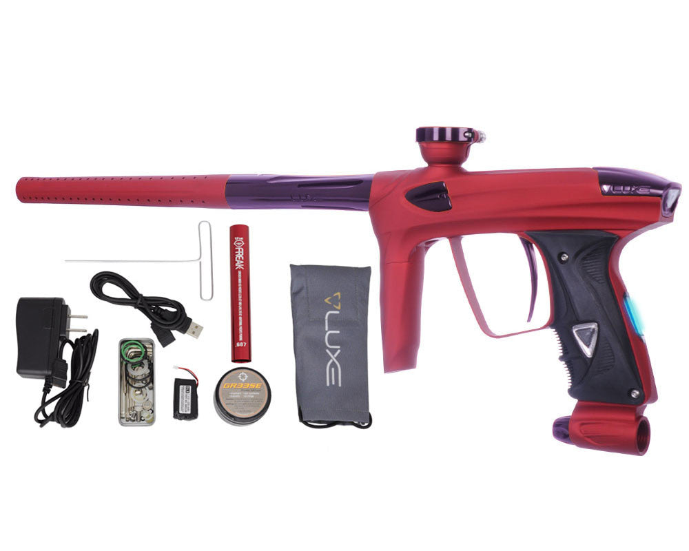 DLX Luxe 2.0 OLED Paintball Gun - Dust Red/Eggplant
