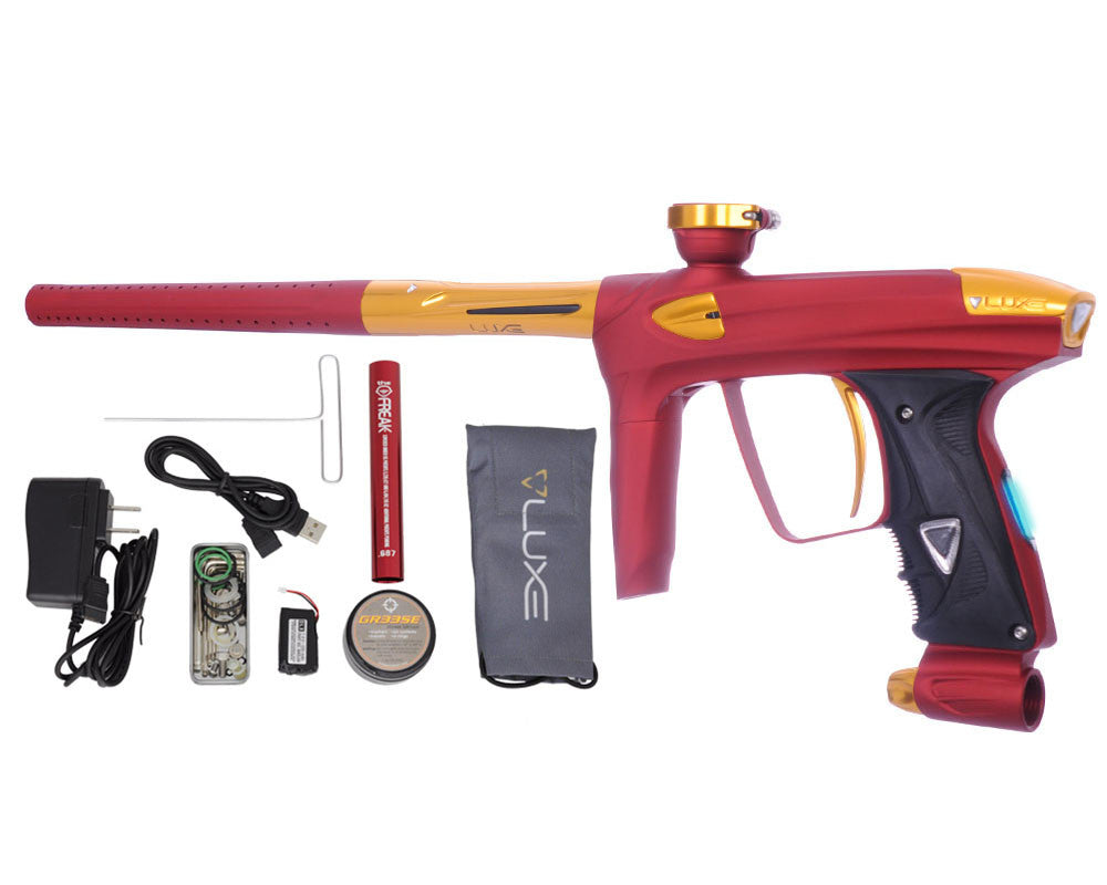 DLX Luxe 2.0 OLED Paintball Gun - Dust Red/Gold