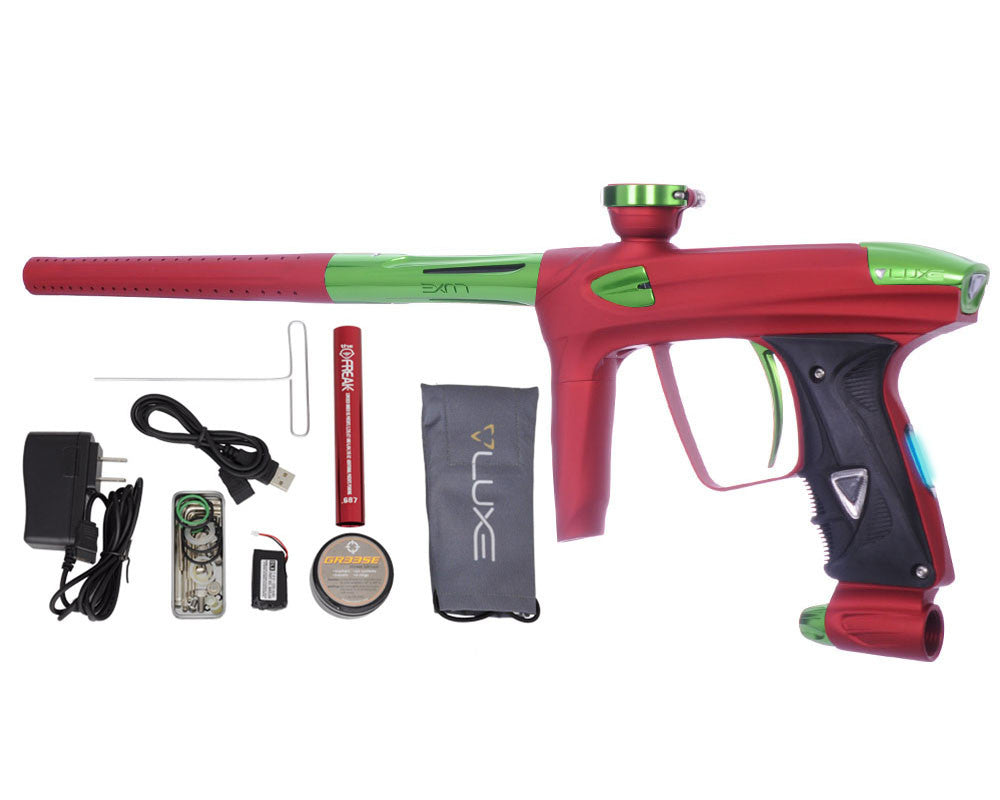 DLX Luxe 2.0 OLED Paintball Gun - Dust Red/Slime Green