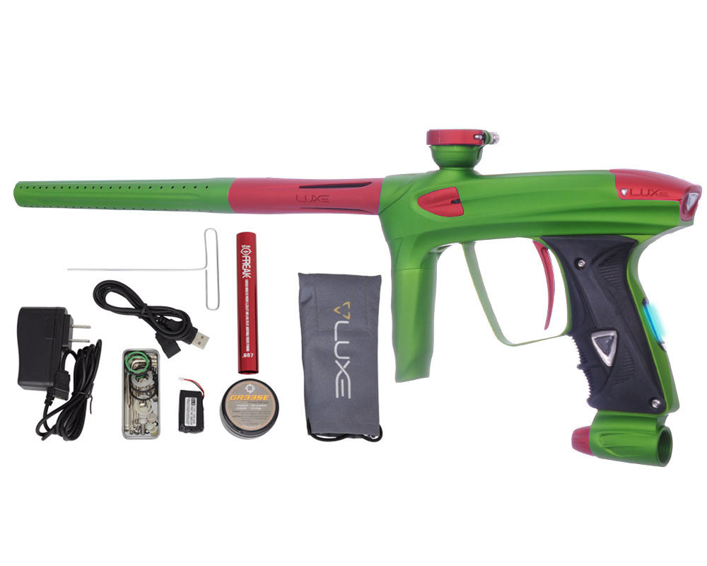DLX Luxe 2.0 OLED Paintball Gun - Dust Slime Green/Dust Red