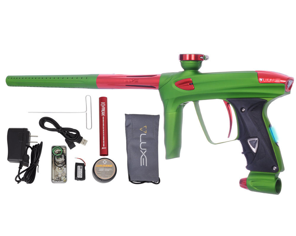 DLX Luxe 2.0 OLED Paintball Gun - Dust Slime Green/Red