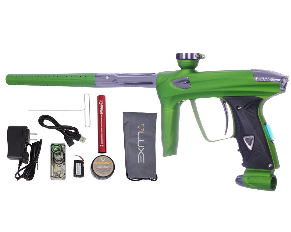 DLX Luxe 2.0 OLED Paintball Gun - Dust Slime Green/Titanium