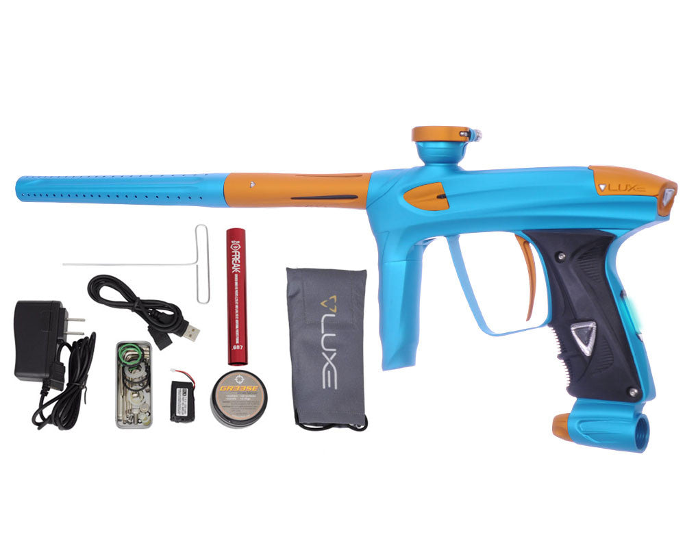 DLX Luxe 2.0 OLED Paintball Gun - Dust Teal/Dust Gold