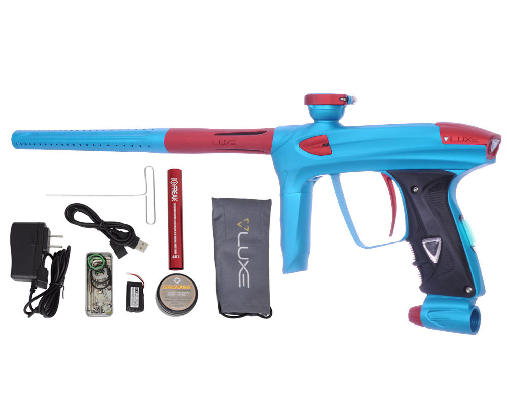 DLX Luxe 2.0 OLED Paintball Gun - Dust Teal/Dust Red