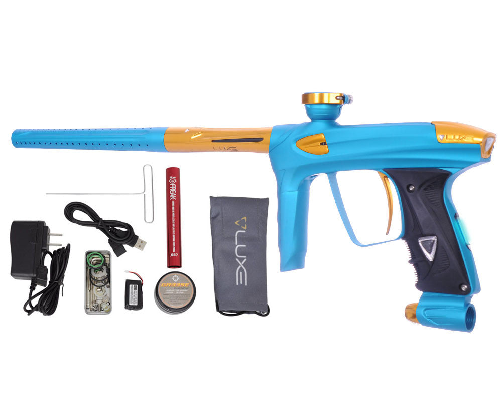 DLX Luxe 2.0 OLED Paintball Gun - Dust Teal/Gold