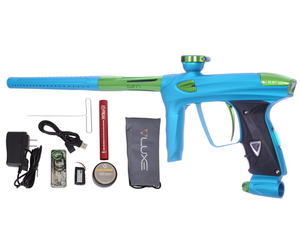 DLX Luxe 2.0 OLED Paintball Gun - Dust Teal/Slime Green