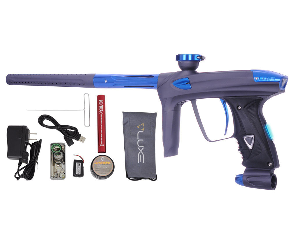 DLX Luxe 2.0 OLED Paintball Gun - Dust Titanium/Blue