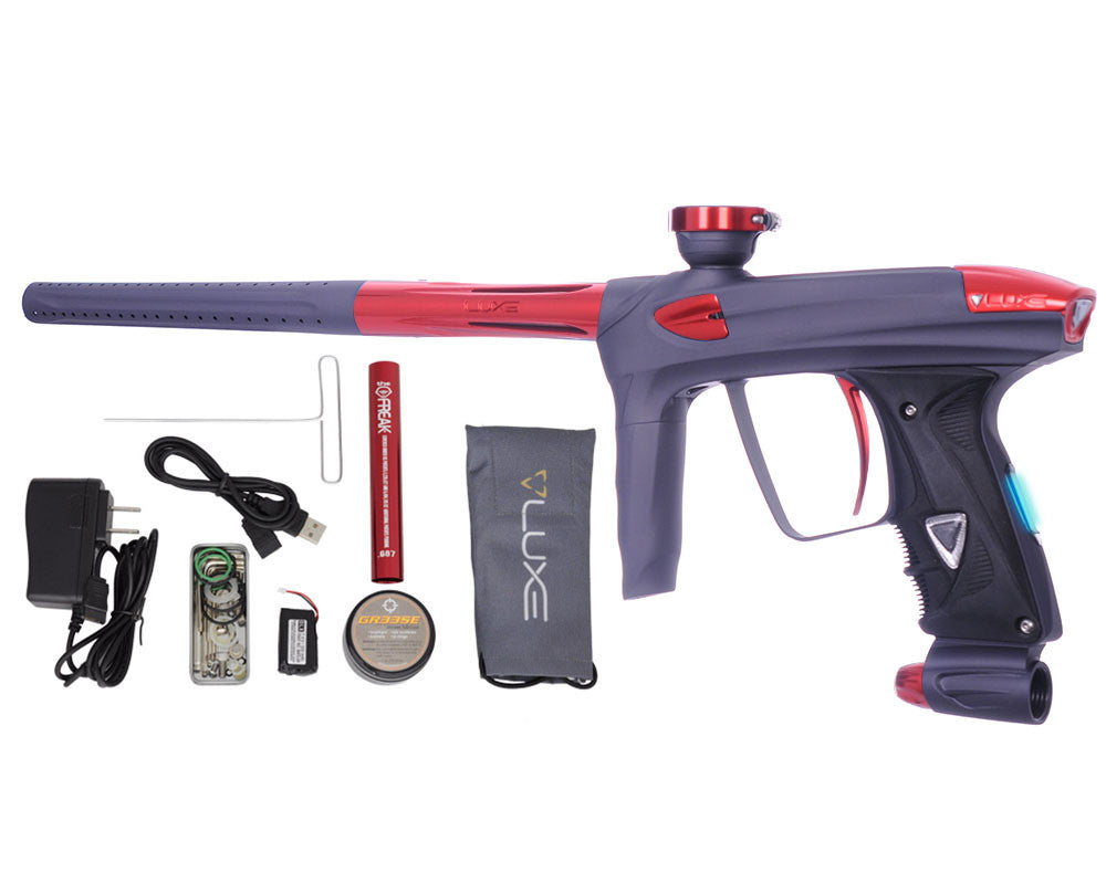 DLX Luxe 2.0 OLED Paintball Gun - Dust Titanium/Red
