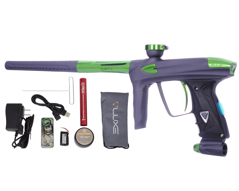 DLX Luxe 2.0 OLED Paintball Gun - Dust Titanium/Slime Green