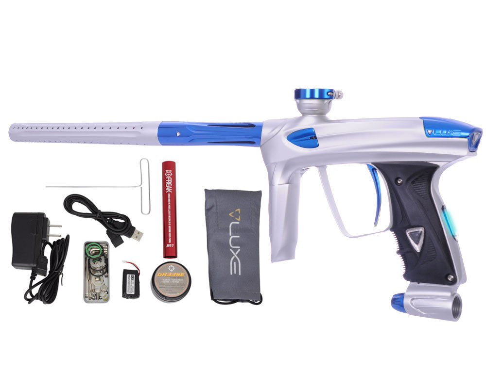 DLX Luxe 2.0 OLED Paintball Gun - Dust White/Blue