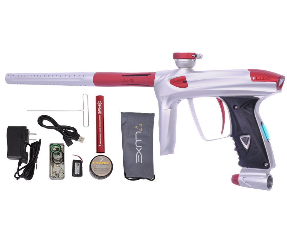 DLX Luxe 2.0 OLED Paintball Gun - Dust White/Dust Red