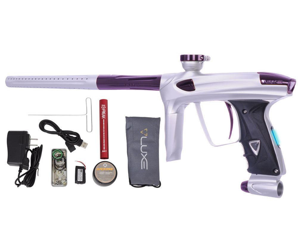 DLX Luxe 2.0 OLED Paintball Gun - Dust White/Eggplant