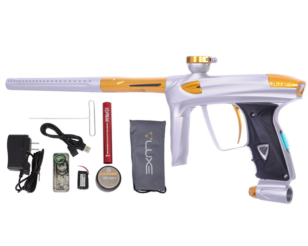 DLX Luxe 2.0 OLED Paintball Gun - Dust White/Gold