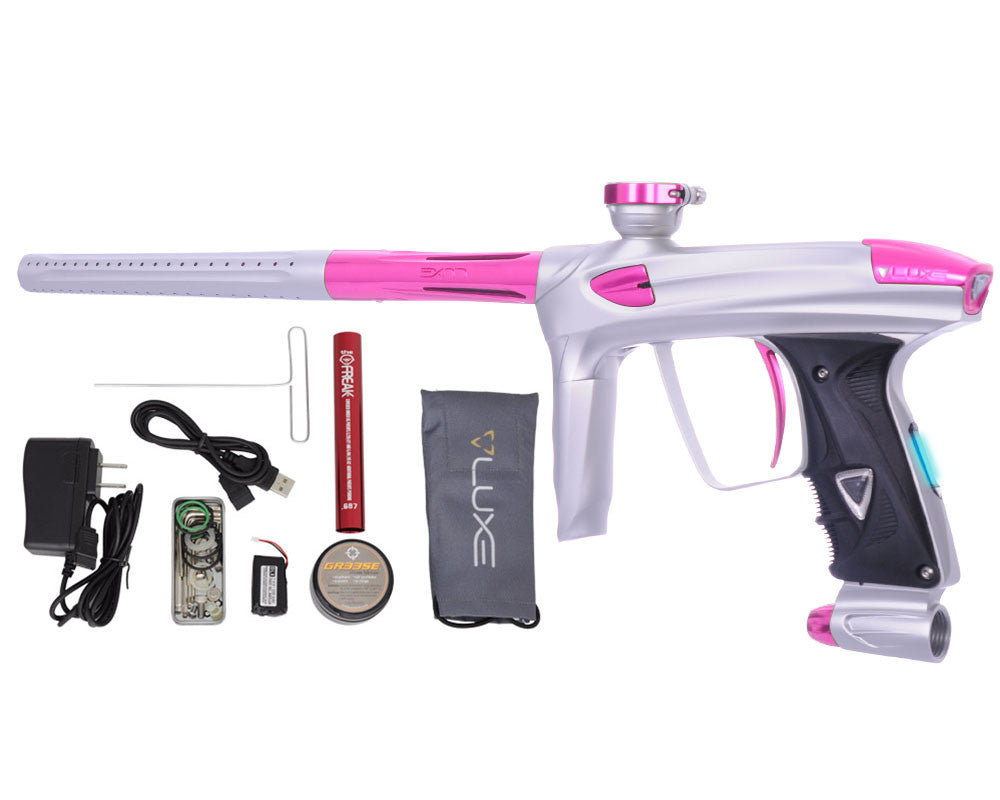 DLX Luxe 2.0 OLED Paintball Gun - Dust White/Pink