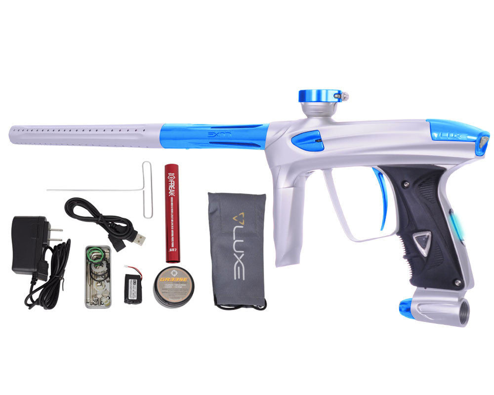 DLX Luxe 2.0 OLED Paintball Gun - Dust White/Teal