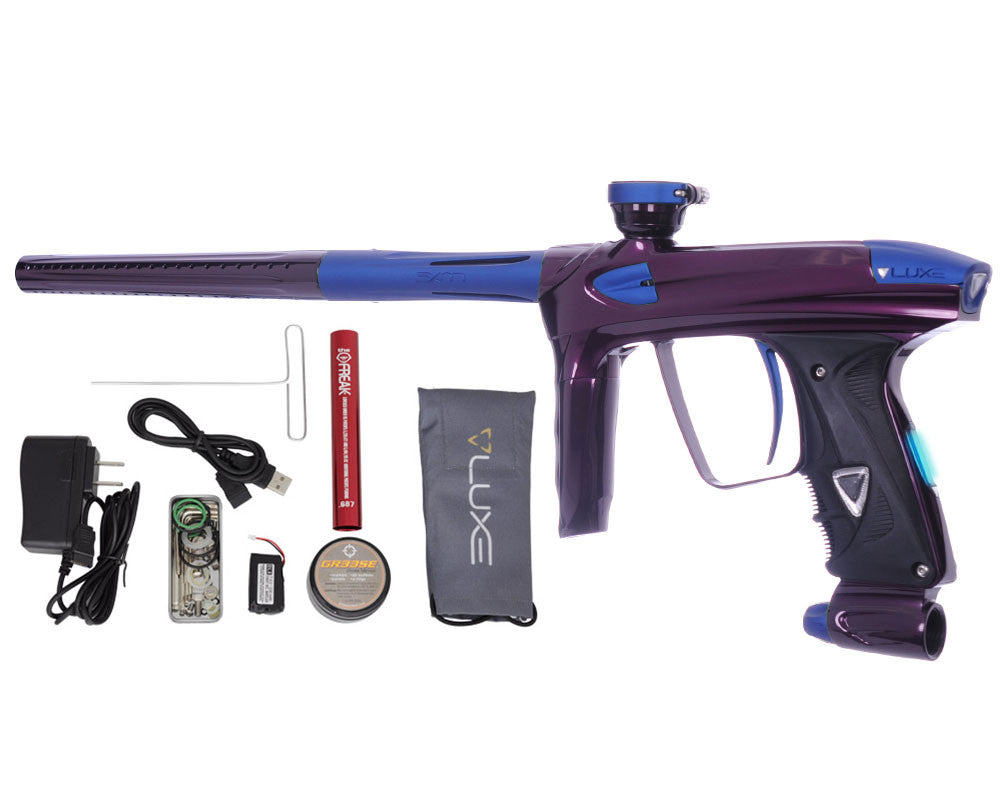 DLX Luxe 2.0 OLED Paintball Gun - Eggplant/Dust Blue