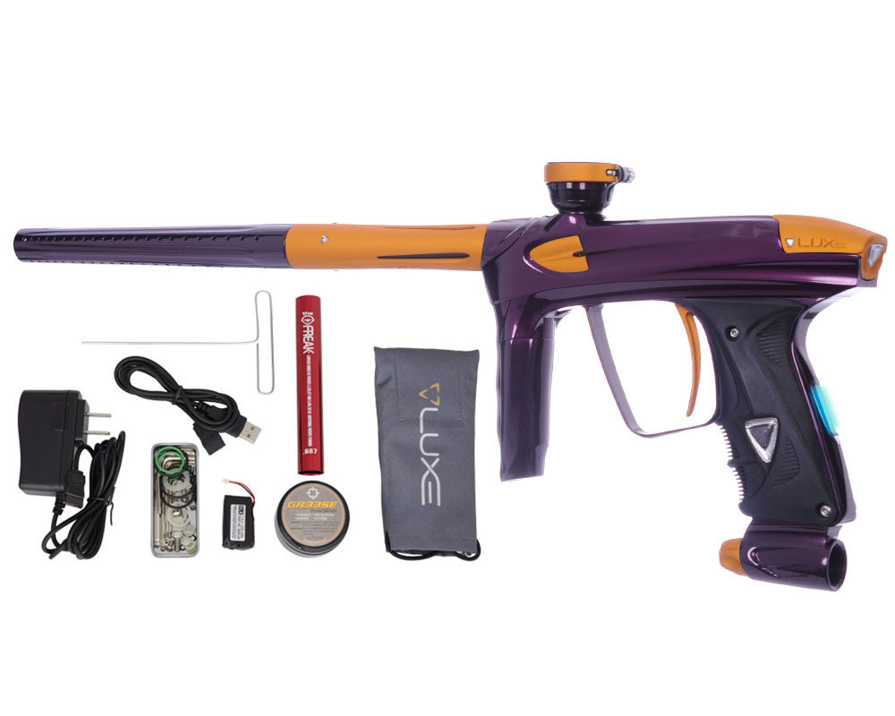 DLX Luxe 2.0 OLED Paintball Gun - Eggplant/Dust Gold