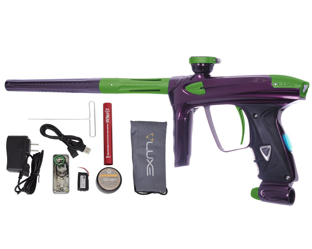 DLX Luxe 2.0 OLED Paintball Gun - Eggplant/Dust Slime Green