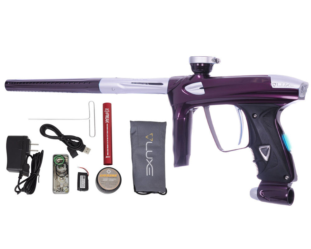 DLX Luxe 2.0 OLED Paintball Gun - Eggplant/Dust White