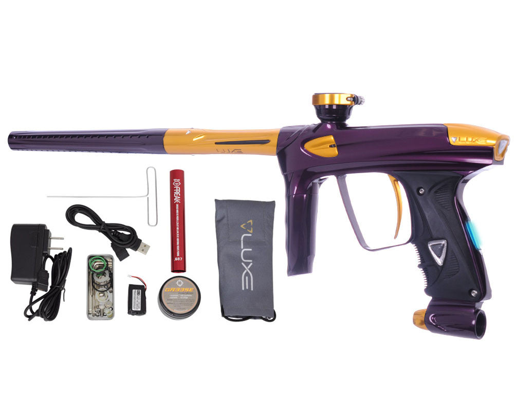 DLX Luxe 2.0 OLED Paintball Gun - Eggplant/Gold
