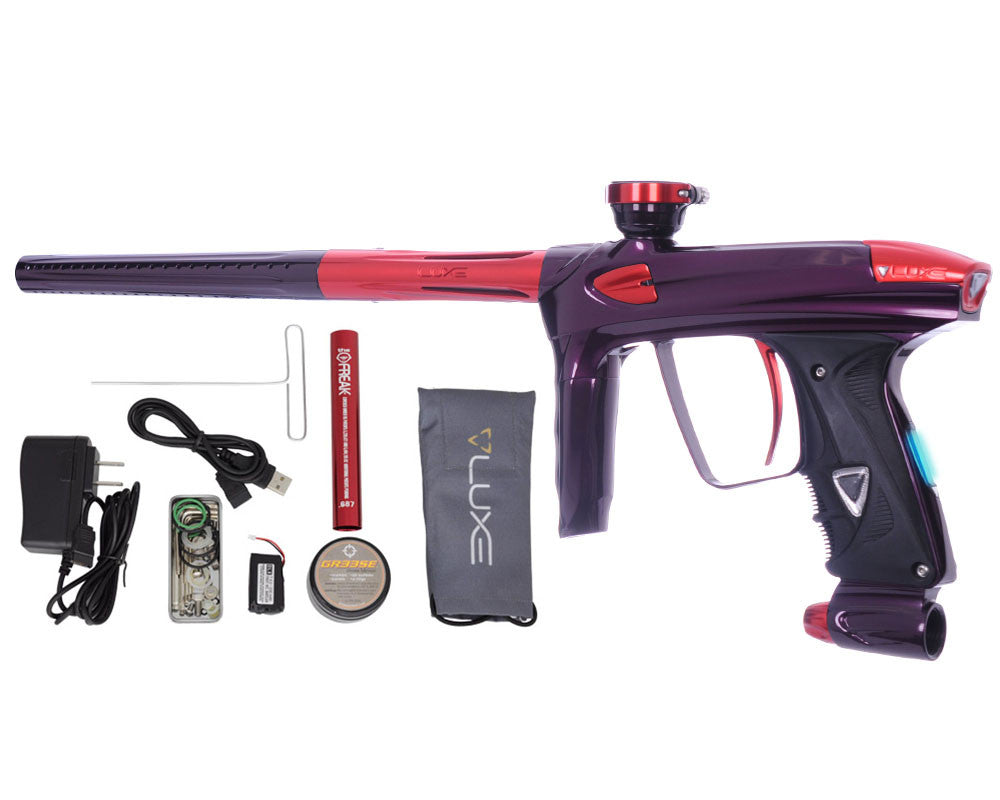 DLX Luxe 2.0 OLED Paintball Gun - Eggplant/Red