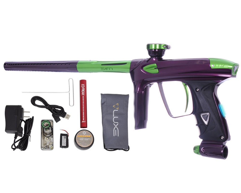 DLX Luxe 2.0 OLED Paintball Gun - Eggplant/Slime Green