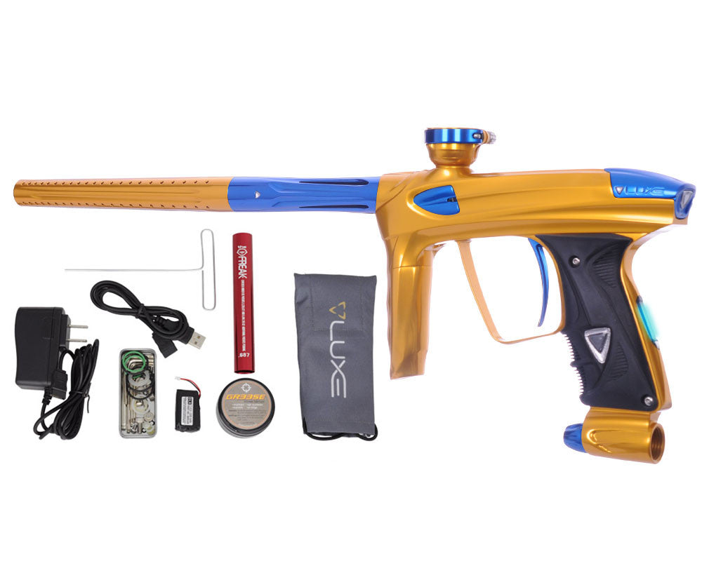 DLX Luxe 2.0 OLED Paintball Gun - Gold/Blue