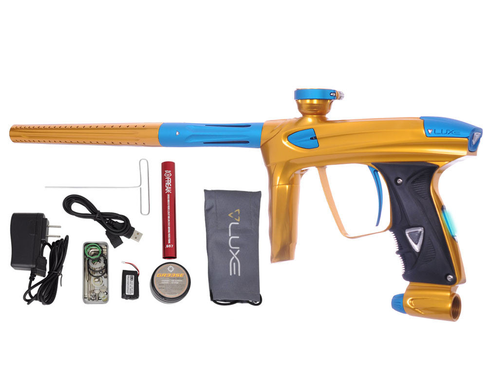 DLX Luxe 2.0 OLED Paintball Gun - Gold/Dust Teal