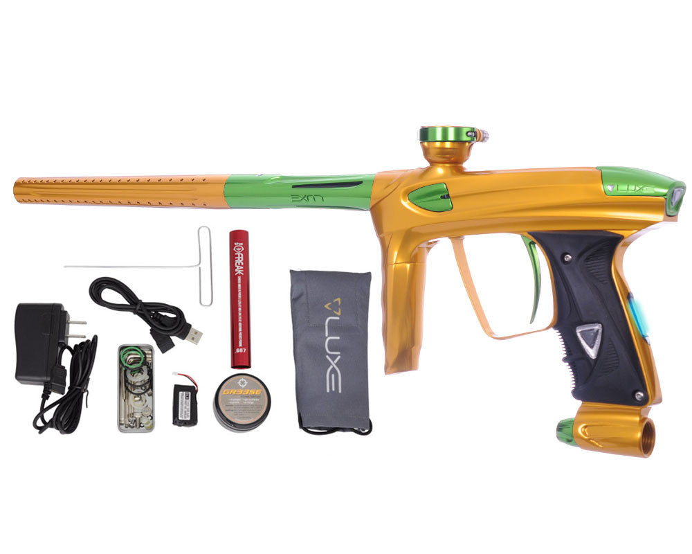 DLX Luxe 2.0 OLED Paintball Gun - Gold/Slime Green
