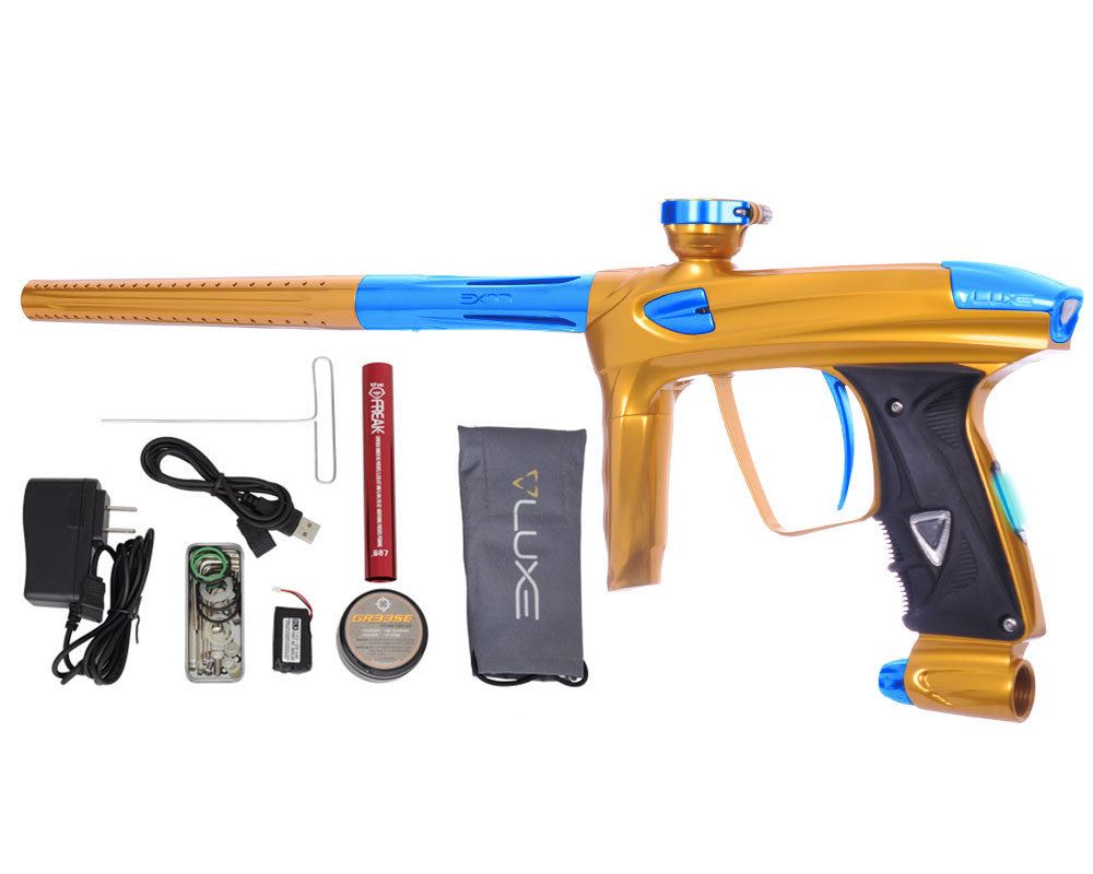 DLX Luxe 2.0 OLED Paintball Gun - Gold/Teal
