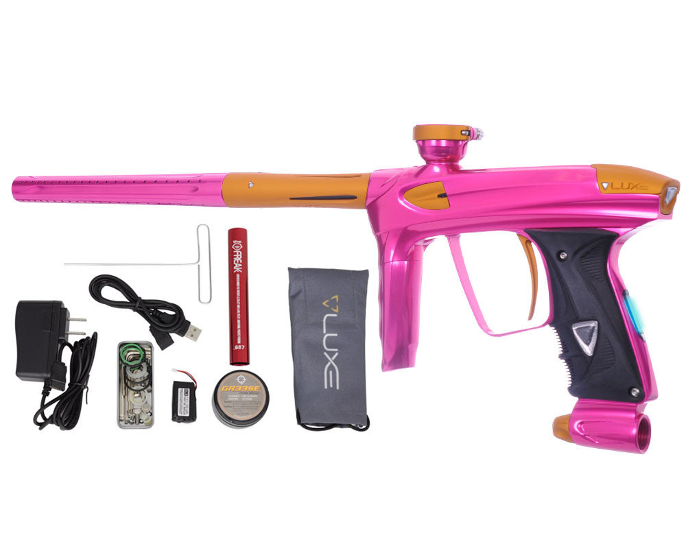 DLX Luxe 2.0 OLED Paintball Gun - Pink/Dust Gold