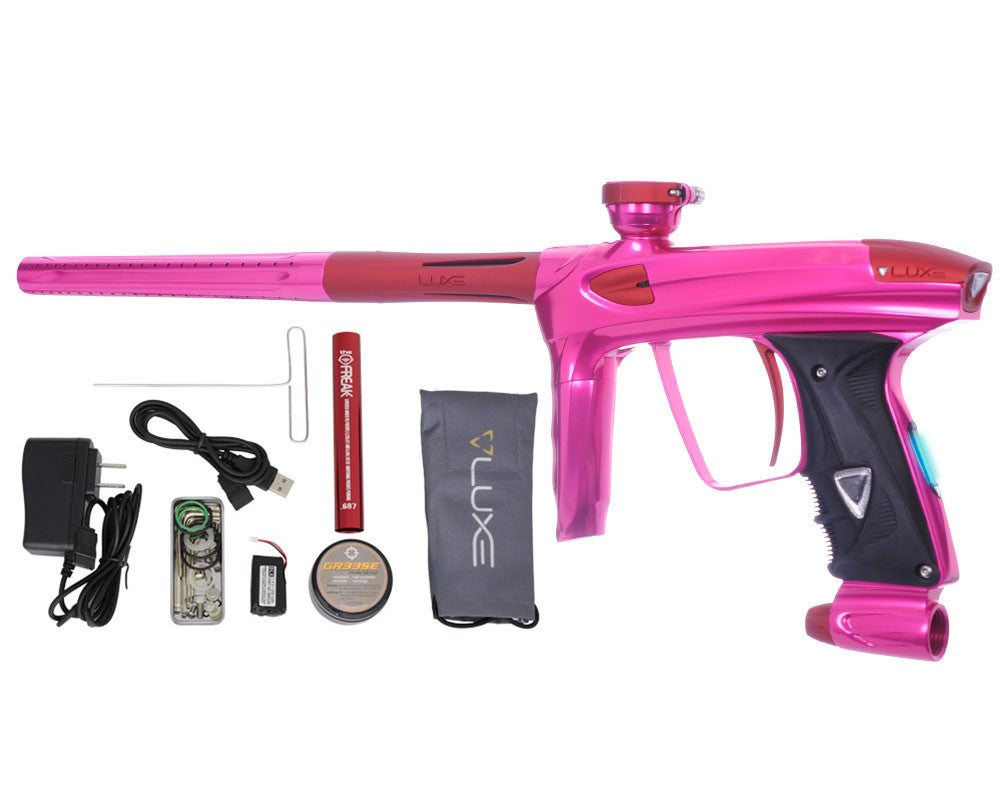 DLX Luxe 2.0 OLED Paintball Gun - Pink/Dust Red