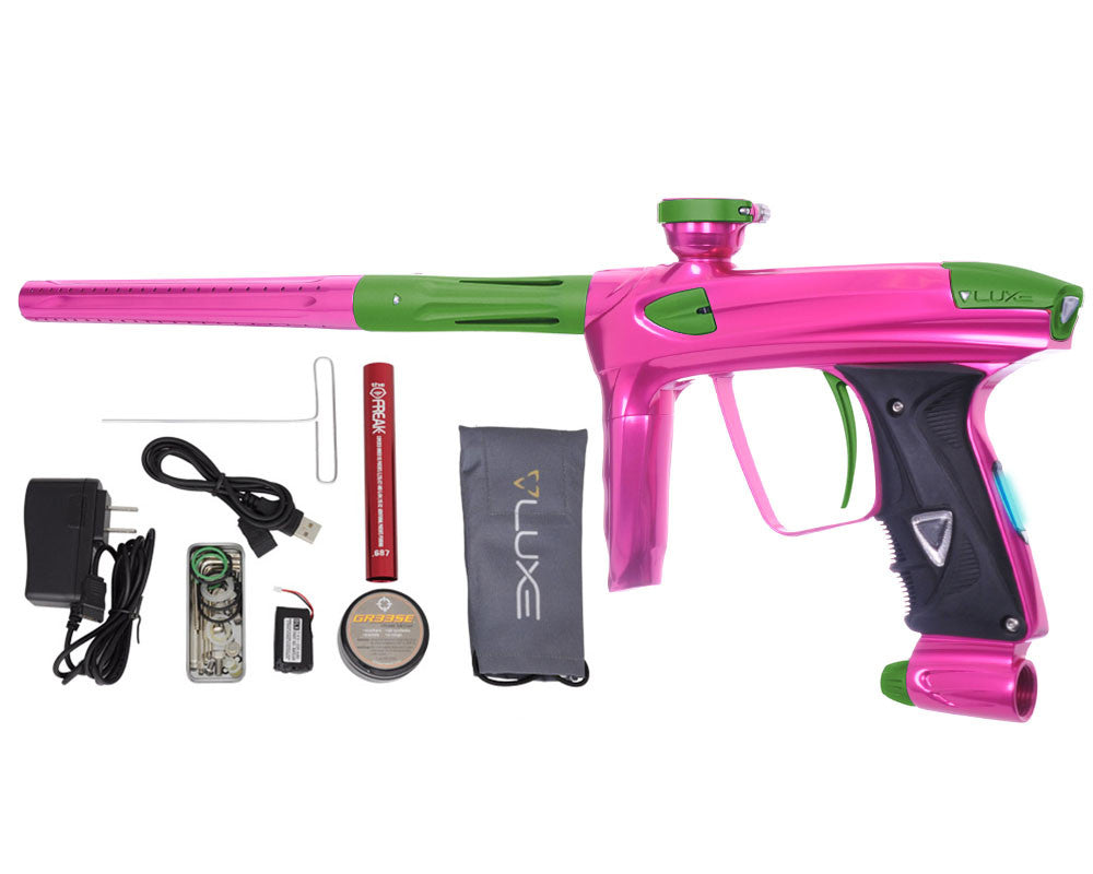DLX Luxe 2.0 OLED Paintball Gun - Pink/Dust Slime Green