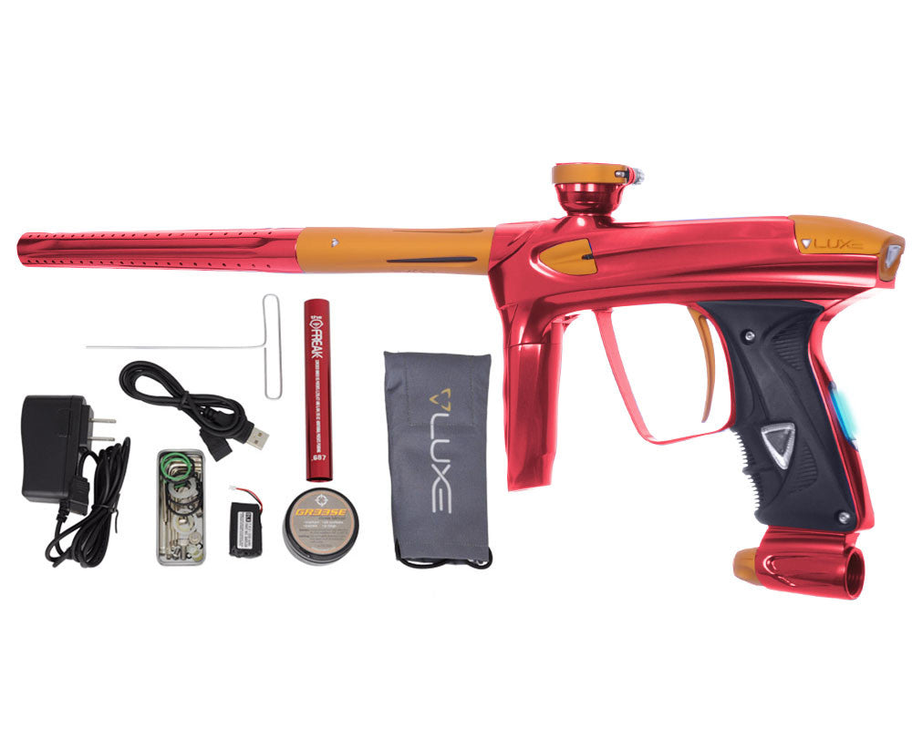DLX Luxe 2.0 OLED Paintball Gun - Red/Dust Gold