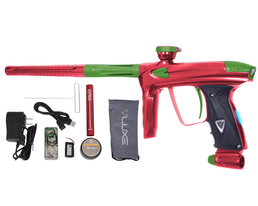 DLX Luxe 2.0 OLED Paintball Gun - Red/Dust Slime Green