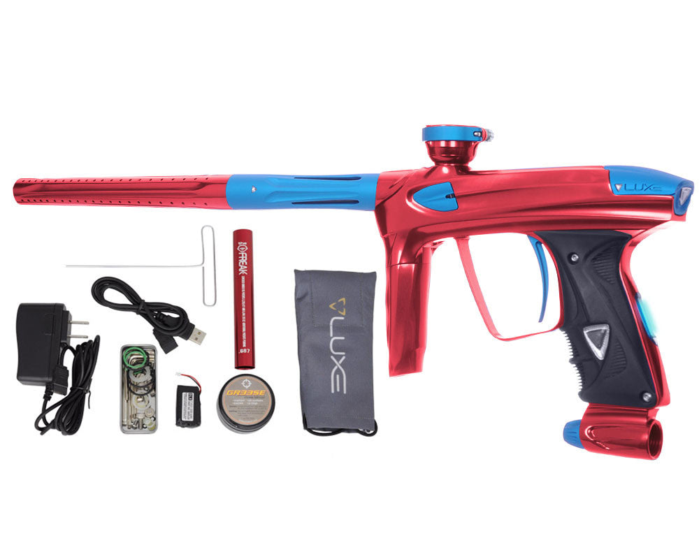 DLX Luxe 2.0 OLED Paintball Gun - Red/Dust Teal