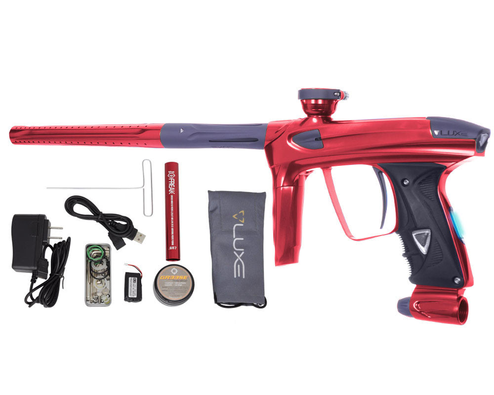 DLX Luxe 2.0 OLED Paintball Gun - Red/Dust Titanium