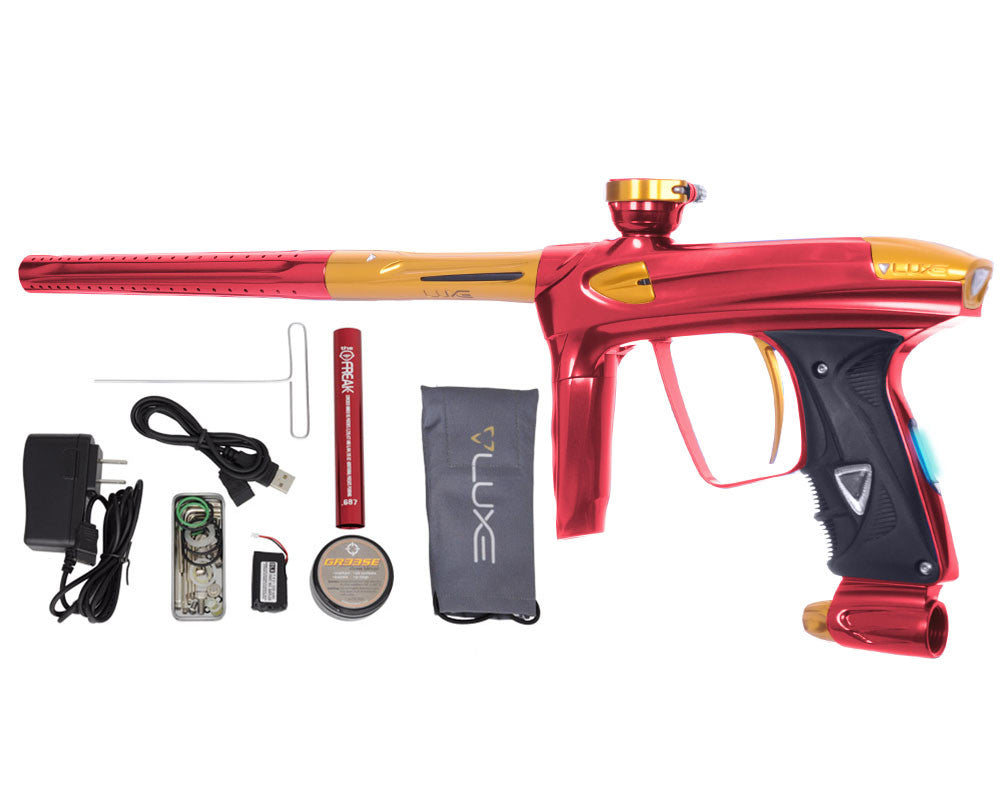 DLX Luxe 2.0 OLED Paintball Gun - Red/Gold